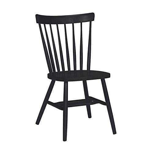 International Concepts Copenhagen Chair with Plain Legs, Black - Black Windsor Chair