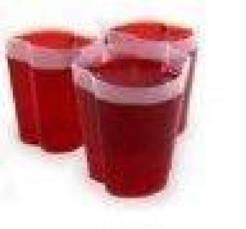 100 EZ-Squeeze Jello Shot Cups with Lids - 2 oz. Max Capacity