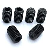 OUNONA 200 Pcs Stainless Steel Hex Allen Head Socket Set Screw Assortment Kit Socket Set Screw with Internal Hex Drive M3 M4 M5 M6 M8 (Black)