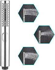 WEIDMAX badkamer ronde douchekop met 3 functies, wrijven zonder verstoppingen, silicagelnozzles, verchroomde ABS-body