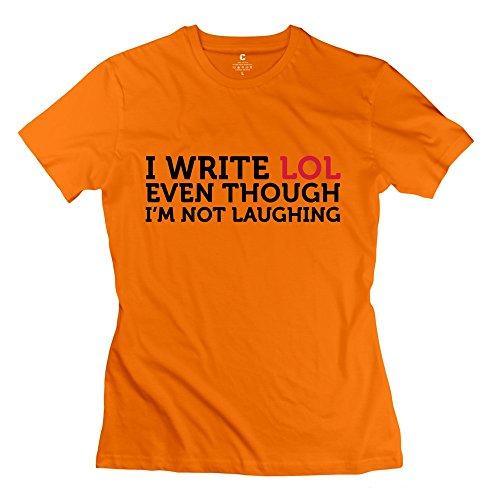 Write LolWomensneck Orange KaiOu Women T Shirt Theme