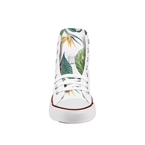 de zapatos Personalizados artesanía Converse flowers impresos e Tropical H6wHgT