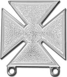 Regulation Size Army Marksman Qualification Badge Attachment (Silver Finish)