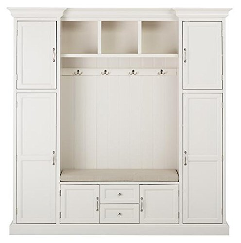 (Home Decorators Collection Royce All in one Mudroom, LARGE, POLAR WHITE)