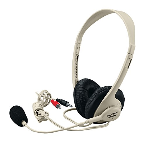 Califone 3064AV Multimedia Headphones with Microphone - 3.5 mm Plug ()