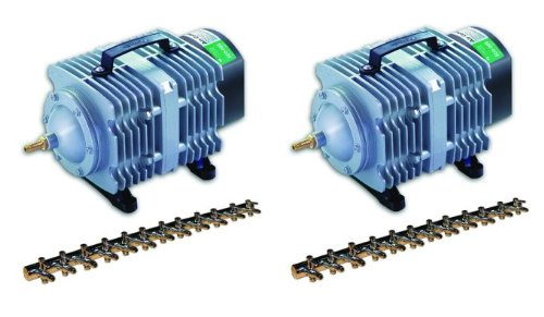 - Hydrofarm 2 AAPA110L 112W 110LPM Active Aqua Commercial Air Pumps w/12 Outlets