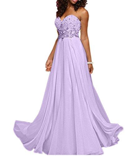 Abendkleider mia Lilac A Brautmutterkleider Lang Herzausschnitt Braut La Elegant Linie Ballkleider Traegerlos Partykleider qBOdXUnxa