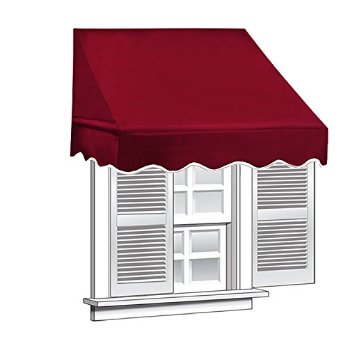 Peach Tree 4ft Drop Arm Manual Retractable Door Window Awning Canopy Shelter Sun Shade Burgundy/Blue/Beige - Shade Sun Control Clips