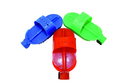 Partrade Curry Comb Plastic W/Shut Off Valve Red