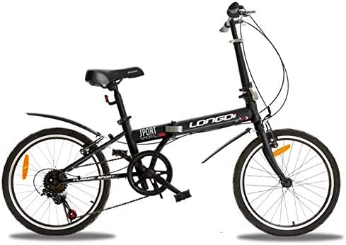 DBSCD Adultos Bicicletas Plegables, Bicicletas Plegables Velocidad Variable Estudiante Rueda pequeña Bicicleta de Regalo Bicicleta Plegable-Negro 20 Pulgadas: Amazon.es: Deportes y aire libre