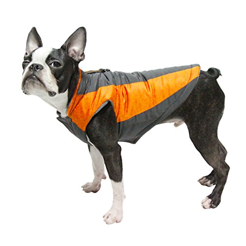 GOOBY Active Trekking Dog Jacket, Large, Mandarin Orange ()