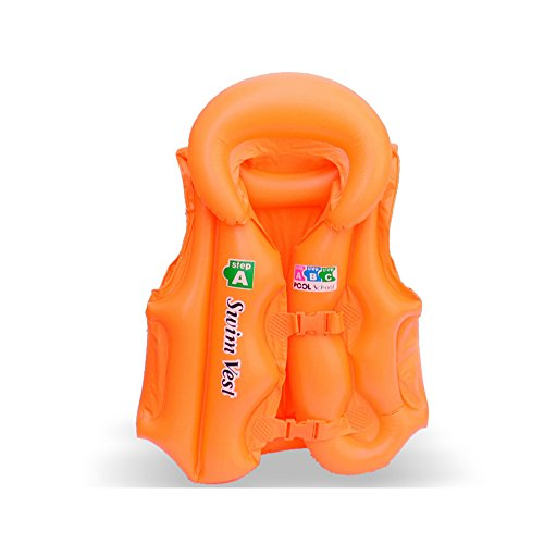 Save4you Children Float Swimming Aid Swim Vest Learn-to Swim Life Jacket Buoyancy Aid Vest for Kids (Orange, Small)