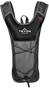 TETON Sports Trailrunner 2 Liter Hydration Backpack Perfect for Biking, Running, Hiking, Climbing, and Hunting; Black