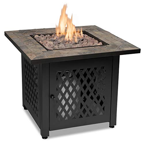 - Endless Summer, GAD1429SP, Gas Outdoor Fireplace with Slate Mantel