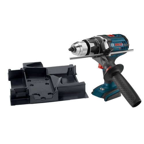 Bosch DDH181XBN-RT 18V Cordless Lithium-Ion Brute Tough 1/2 in. Drill Driver and Exact-Fit Tool Insert Tray (Bare Tool) (Certified Refurbished)