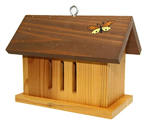Nature Gift Store Butterfly House: Barn Shaped Hand-Made in Wisconsin, Hand-Painted Butterfly Attract Butterflies Butterfly House
