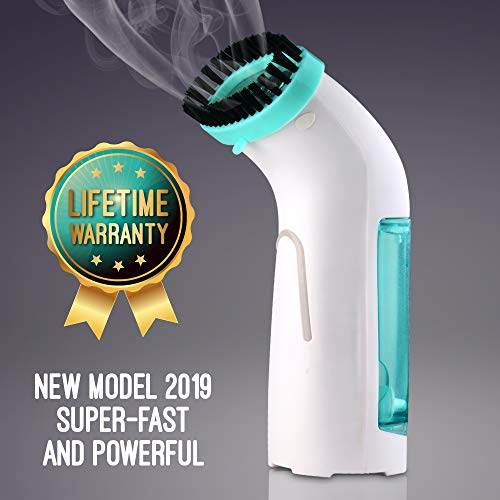Mini Travel Garment Steamer - Portable Handheld Steamer Disinfects, Releases Wrinkles, and Refreshes On The Go - Quick Steam, Leak-Free Iron Replacement for Clothes and Other Fabrics