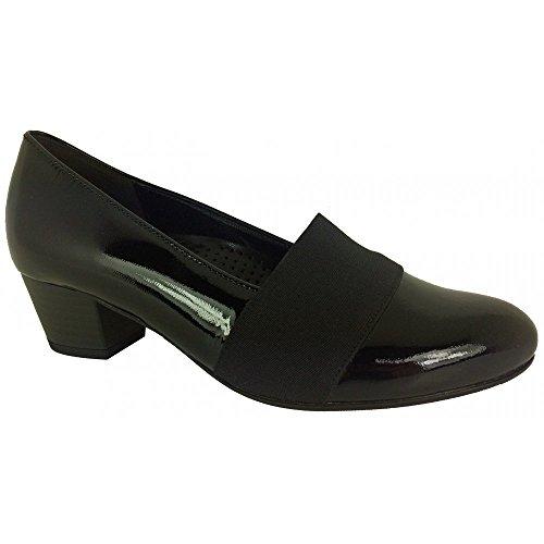 Gabor Shoes Comfort Fashion, Zapatos de Tacón para Mujer Blk Patent