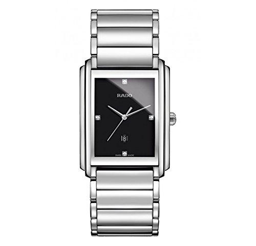 Rado Integral Black Dial Stainless Steel Ladies Quartz Watch R20997713