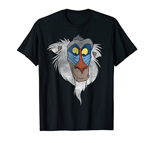 Tee Face Lion - Disney Lion King Rafiki Big Face Graphic T-Shirt