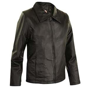 USA Leather Womens Black Leather Jacket - 3X-Large