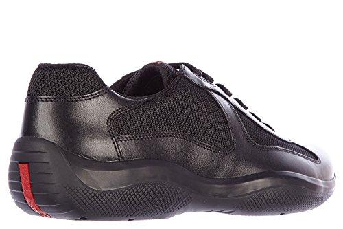 Prada scarpe sneakers uomo in pelle nuove nevada bike nero