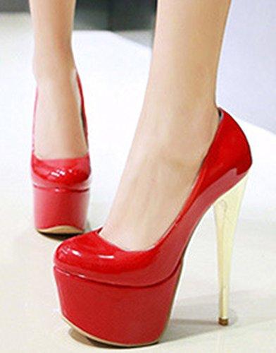 Aisun Couleur Sexy Rouge Talon Femme Escarpins Unie Aiguille 1g1wf7qrn