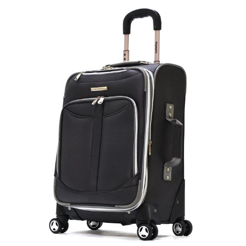 Basic Expandable Briefcase (Olympia Luggage  Tuscany 21 Inch Expandable Spinner Airline Carry-On Upright,Black,One Size)