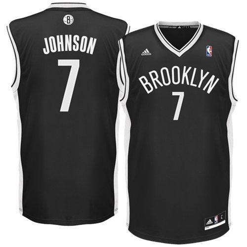 c839865db NBA Brooklyn Nets Black Replica Jersey Joe Johnson Number 7 (Large) ...