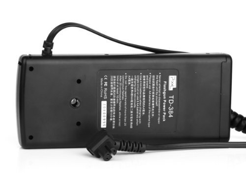 Pixel TD-384 battery Power Pack for Sony flashgun HVL-F58AM HVL-F56AM, replaces Sony FA-EB1AM, extremely stable fast recycle time