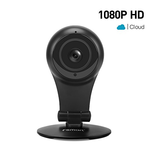 (Fsmart 1080p Indoor Camera, Wireless Camera Home Camera Wifi Camera Security Surveillance Monitor With Night Vision/Two Way Audio For Security/Nursey/Pet-Cloud Service Available(Black))