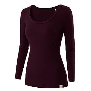 Regna X Women's Crewneck Long Sleeve Soft & Stretch Cotton Blend Top (S 3X, We Have Plue Sizes)
