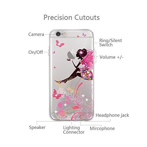 6 Copertura scintillante Cristallo Sottile Proteggi 6s Bordo diamante Custodia iPhone Morbida Cover 6s Silicone Apple 7 Trasparente TPU Completa Case per iphone6 qXPxg5wW6B