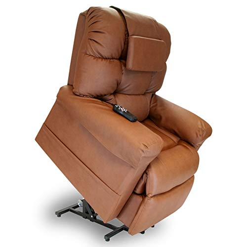WiseLift 450 Sleeper Lift Chair - EnduraluxTM Leather (Saddle)