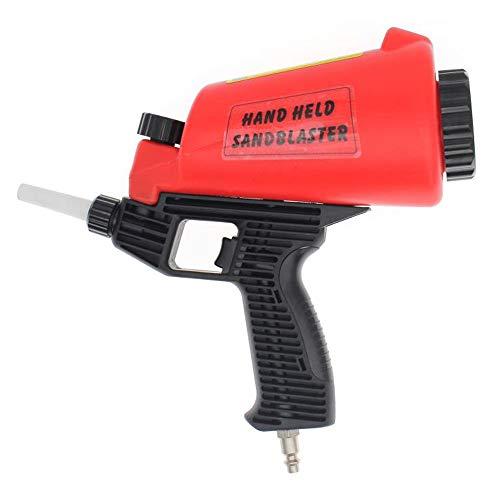Pneumatic Sandblaster Sand Blaster Gun - Gravity Feed Media Sand Blasting Spray Gun with 2 Ceramic Nozzle Tips - Blast Abrasive Media, Walnut, Soda, Bead, Aluminum Oxide, Sand Blasting Equipment