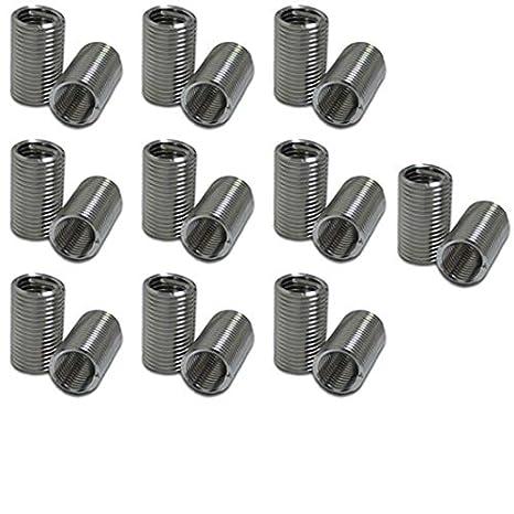 XunLiu 304 Stainless Steel Wire Thread Insert HeliCoil Stripped Thread Rethread Repair 50, M6-1.0X1.5D