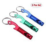 Panda tool 3 in 1 Multifunction Whistle Keychain Bottle...