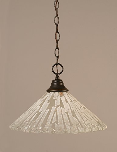 Toltec Lighting 10-DG-719 Chain Hung Pendant with 16