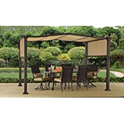 Steel Pergola Gazebo 12' x 10' Outdoor Patio Shelter