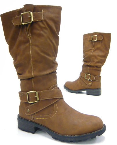 Robuste Damen gefütterte Winter Stiefel Outdoor Boots camel 37