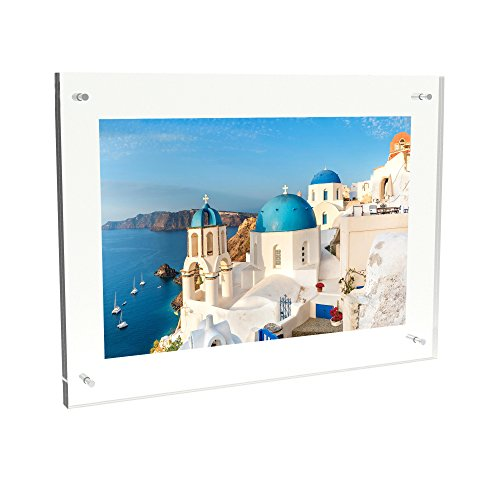 Lavish Home 80-Acryl-1419 Acrylic Picture Frame-Clear Floating Design Family Photo/Custom Art Display, Wall Mount with Hardware Included by, (Acrylic Collage Frames)