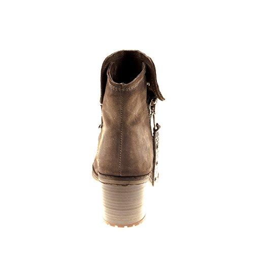 Scarpe Da Donna In Felmini - Innamorati Di Cana B134 - Stivali Da Cowboy E Da Motociclista - Vera Pelle - Testa Di Moro Marrone Scuro