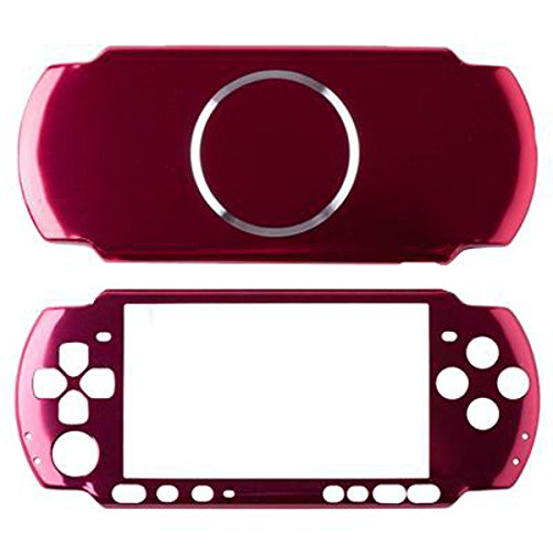 Vivi Audio Protector Travel Carry Aluminum Hard Cover Case Shell For Sony PSP 3000 Console (Red)