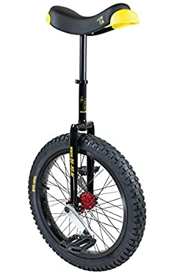 Qu-Ax 3095025000 Unicycle Muni Starter 20 Inch Black Alloy Wheel Black Tyres