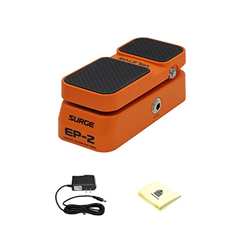 Valeton EP-2 Guitar Stereo Sound Passive Volume pedal Combines Expression effects pedal to Performance with Power Supply and Zorro Sounds Custom Designed Instrument Cloth by Valeton