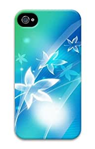 Abstract Flower Design PC Case for iphone 4S/4