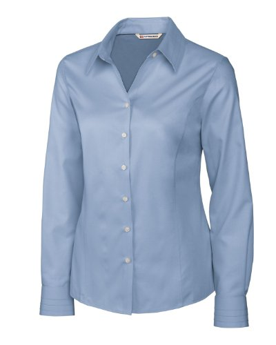 Cutter & Buck LCW08394 Womens L/S Epic Easy Care Fine Twill, River Blue-S ()