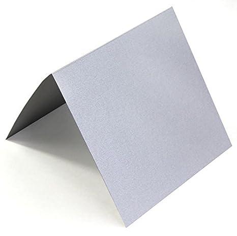 5 1 4 Square Silver Metallic Folding Invitation Cards Stardream 105lb 25 Pack