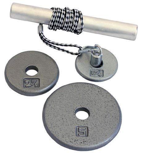 "Power Wrist Roller w/ 1"" Grey Plates (1.25lb, 2.5lb & 5lb)"