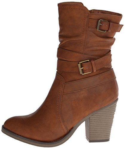 887865258438 - Madden Girl Women's Krisis Motorcycle Boot, Cognac, 7 M US carousel main 4